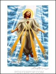 Almera Jesus Light Hand Signed Artist Print  8-1/2 x 11 Image