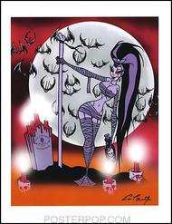 Pigors Stripper Monster Girl Hand Signed Artist Print  8-1/2 x 11 Image