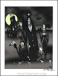 Pigors Haunted Mansion Hand Signed Artist Print  8-1/2 x 11 Image
