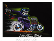 Von Franco Purple Demon Hand Signed Artist Print  8-1/2 x 11 Image