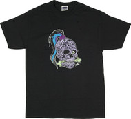 Pizz Tattoo Skull T Shirt