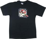 Pizz Iron Cross Skull T Shirt