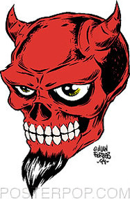 Forbes Devil Skull Sticker Image