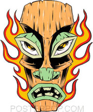 Forbes Flaming Tiki Sticker Image