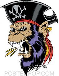 Forbes Captain Ape Sticker