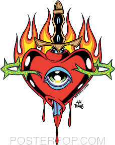 Forbes Flaming Heart Sticker Image