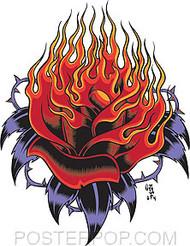 Forbes Flaming Rose Sticker Image