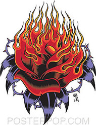 Forbes Flaming Rose Sticker Image