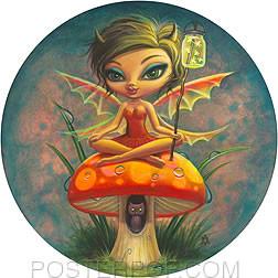 Aaron Marshall Red Fairie Sticker Image