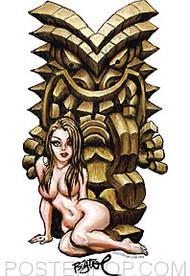 BigToe Lusty Tiki Sticker Image