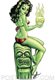 BigToe Green Goddess Sticker Image