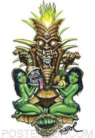BigToe Zombie Tiki Sticker Image