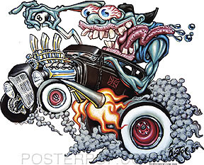 BigToe Monster Burnout Sticker Image