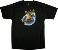 Von Franco Surfing Eyeball T Shirt