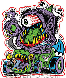 Von Strawn Purple People Eater Sticker Image