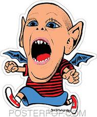Von Strawn Bat Kid Sticker Image