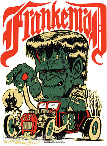 Von Strawn Franken-Rod Sticker