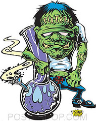 Dirty Donny Ganja Ghoulie Sticker Image