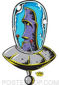 Dirty Donny Cosmic Moai Sticker Image
