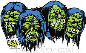 Dirty Donny Shrunken Heads Sticker Image