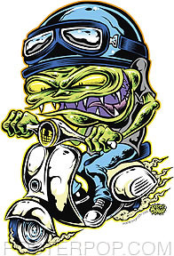 Dirty Donny Scooter Goblin Sticker Image