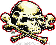 Dirty Donny FreeDom Skull Sticker Image