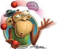 Doug Horne Juggling Monkey Sticker Image