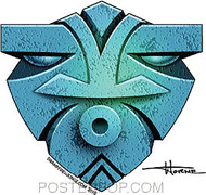 Doug Horne Blue Mask Sticker Image