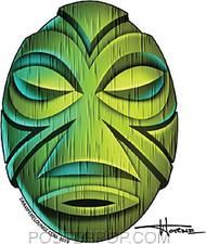 Doug Horne Green Mask Sticker Image