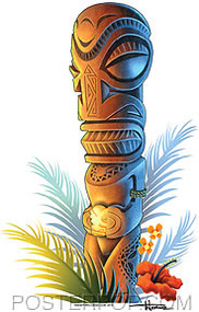 Doug Horne Tiki Sticker Image