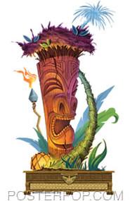 Doug Horne Palm Tree Tiki Sticker Image