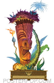 Doug Horne Palm Tree Tiki Sticker Image
