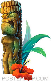 Doug Horne Ku Tiki Sticker Image