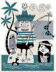 Derek Yaniger Catch of the Day Sticker Image
