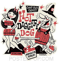 Derek Yaniger Hot Diggity Dog Sticker Image