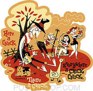 Derek Yaniger Here a Chick Sticker Image