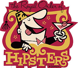 Derek Yaniger Royal Hipsters Sticker Image