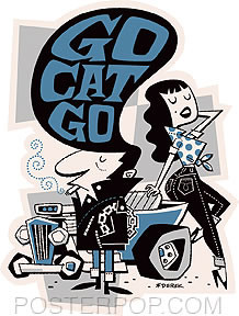 Derek Yaniger Go Cat Go Sticker Image