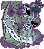 Derek Yaniger Shore Leave Sticker Image
