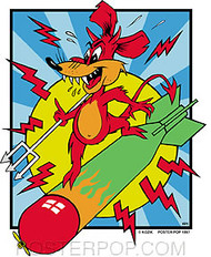Kozik Mouse Bomb Sticker Image