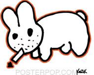 Kozik Smokin Bunny Sticker Image