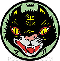 Kozik Cult Cat Sticker Image