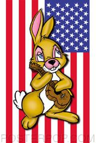 Kozik American Bunny Sticker Image