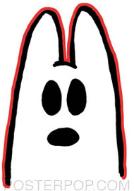 Kozik Ghost Bunny Sticker Image