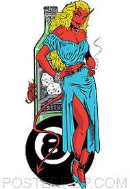 Kozik Absinthe Girl Sticker Image