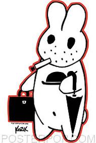 Kozik Busy Bunny Sticker Image