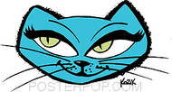 Kozik Snazz Cat Sticker Image