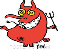 Kozik Wiggly Devil Sticker Image