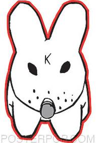 Kozik K Bunny Sticker Image