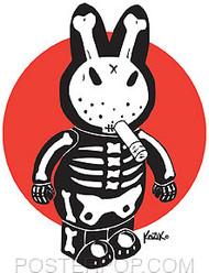 Kozik Bone Bunny Sticker Image